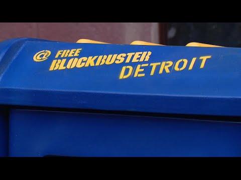 Free Blockbuster movie box opens in Detroit's Eastern Market