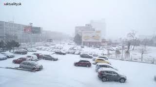 Snehová kalamita v Bratislave alebo keď sneží v hlavnom meste