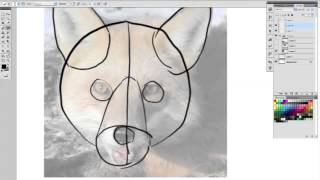 How to draw a furry fox head