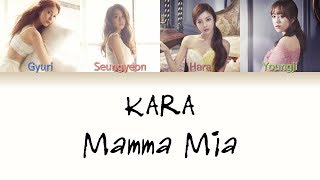 KARA (카라) - Mamma Mia (맘마미아) Lyrics (Color Coded in Hangul/R…
