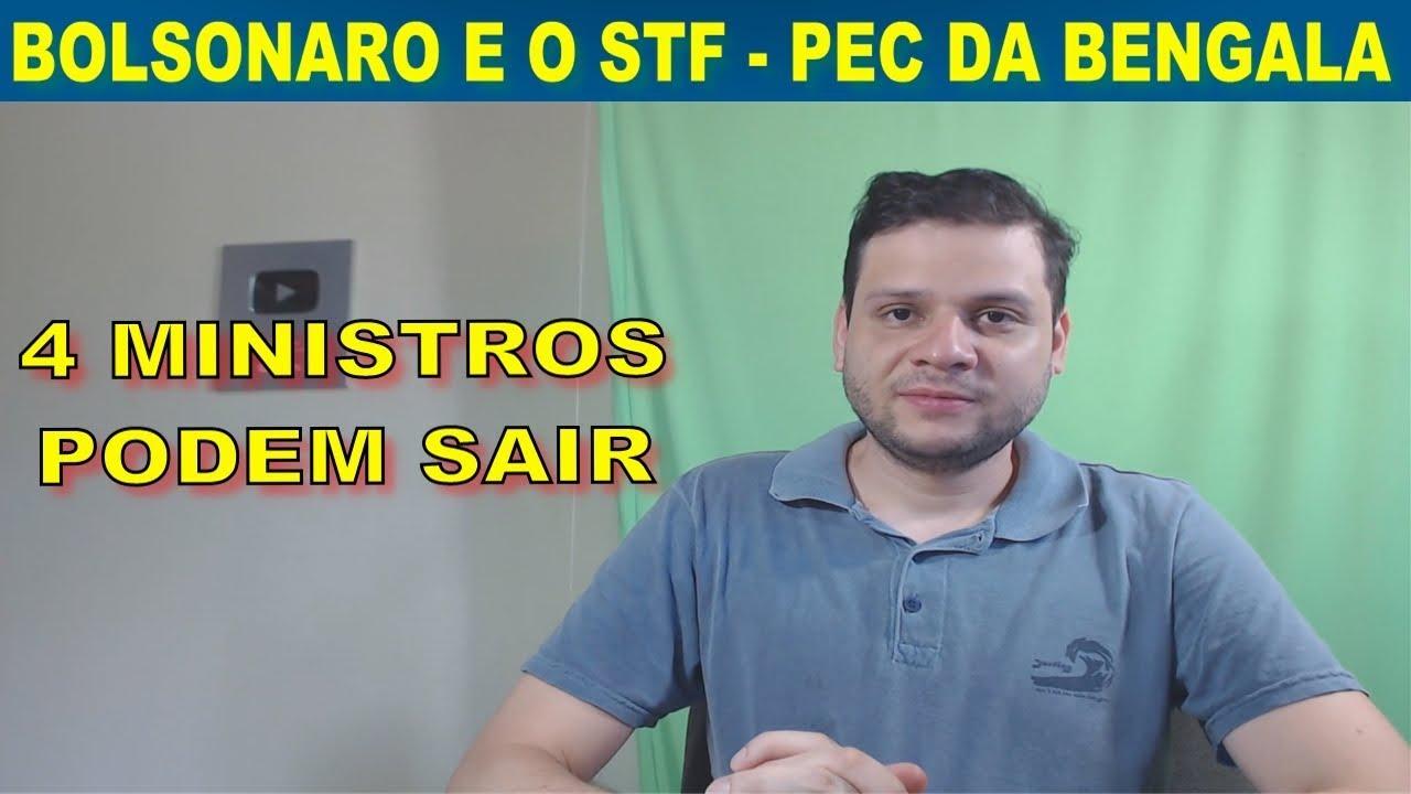 Ministros do STF respondem revogação da PEC da Bengala. Bolsonaro indicaria 4 nomes