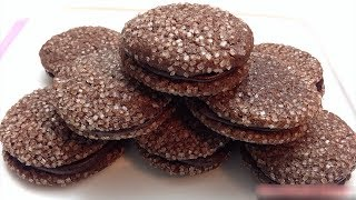 Chocolate Ganache Cookie Without Oven - Chocolate Cookie in Vessel