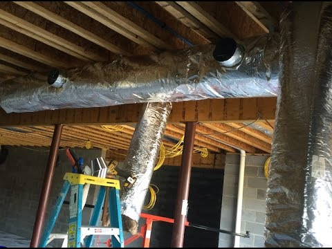 Trunk Duct Insulating And Installing Youtube