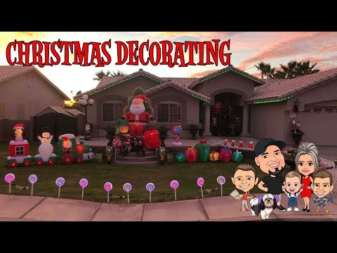 CHRISTMAS DECORATING SHOPPING 2018   INFLATABLES   D&D FAMILY VLOGS