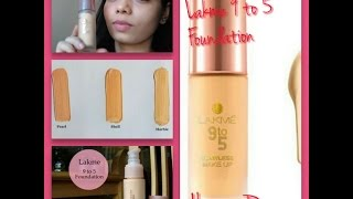 lakme 9to5 Flawless Makeup Foundation Review MARBLE