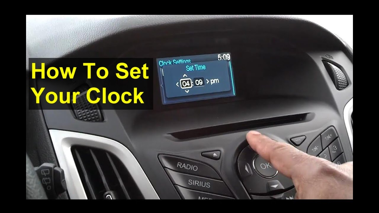 adjust  clock   sync radio ford votd