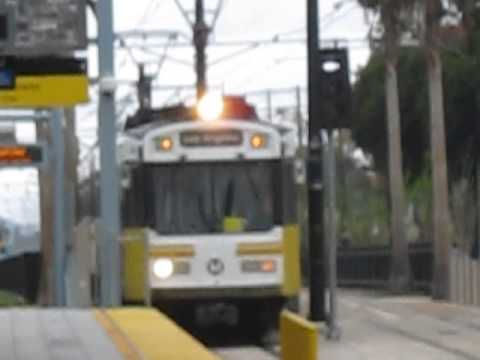 Los Angeles Metro Expo Line Arriving at Expo Park/USC