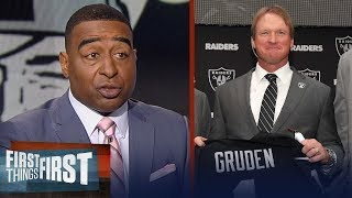 Cris Carter on why Jon Gruden works in Oakland, Panthers & Seahawks firings | FIRST THINGS FIRST