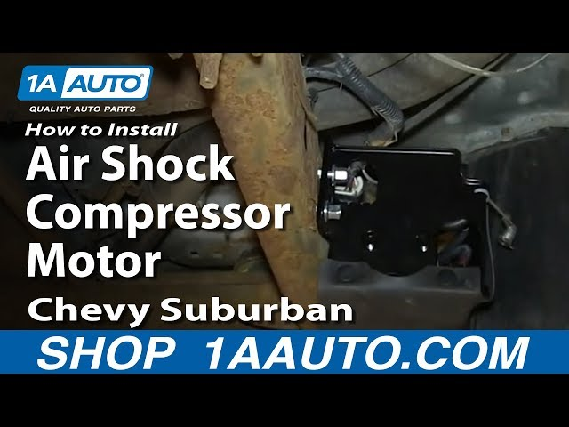 How To Replace Air Shock Compressor Motor 00-06 Chevy