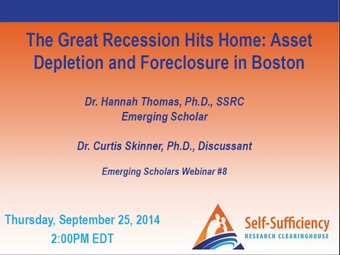 The Great Recession Hits Home: Asset Depletion and Foreclosure in Boston