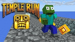 Monster-Schule : TEMPLE RUN CHALLENGE - Minecraft animation