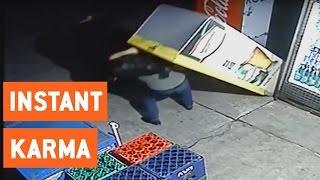 Instant Karma for Beer Fridge Thief | Walk of Shame