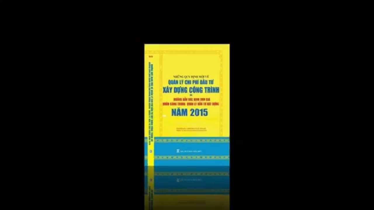 Sách Quản lý chi phí đầu tư xây dựng công trình 2015