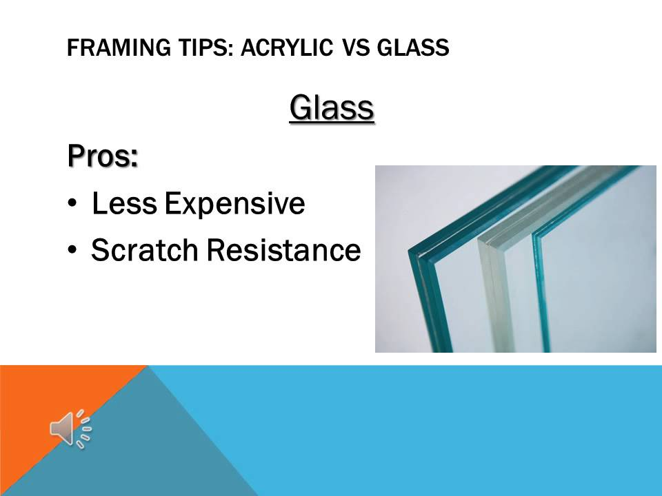 Acrylic Vs Glass In Picture Framing Youtube