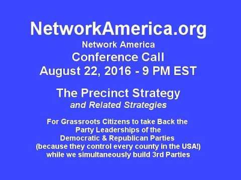 Network America Leadership Call 8/22/16 - 9pm