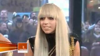 Lady Gaga on Today Show 2008