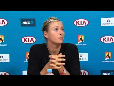 Maria Sharapova press conference (Final) - Australian Open 2015
