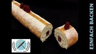 Biskuit Roulade - Biskuitrolle