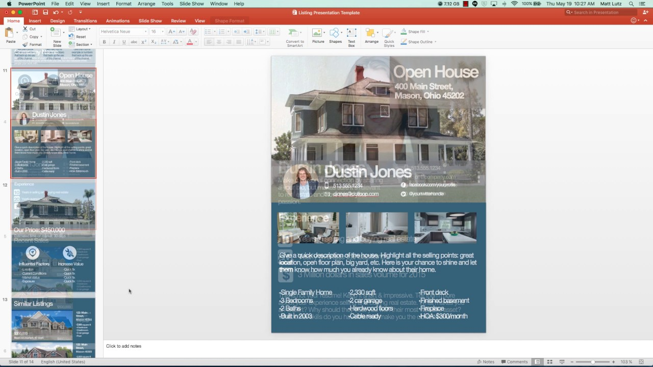 how to customize your free listing presentation template - youtube, Presentation templates