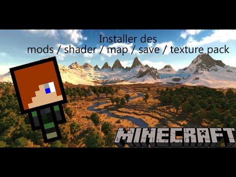 Tuto minecraft comment installer des Mods\saves\shader\texture pack FR - YouTube
