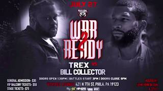 T-REX VS BILL COLLECTOR #WarReady2 TRAILER 7/27