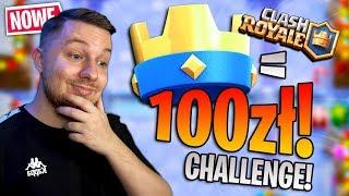 1 KORONKA  = 100zł CHALLENGE w Clash Royale! MEGA TRUDNE!