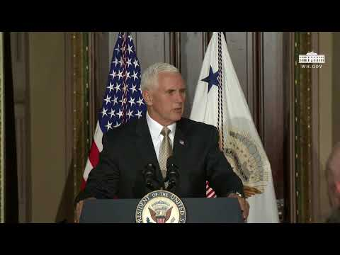 Vice President Pence Delivers Remarks at a Reception Promoting a Hemisphere of Freedom
