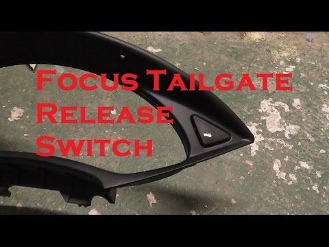 ford focus tailgate release switch replacement youtube