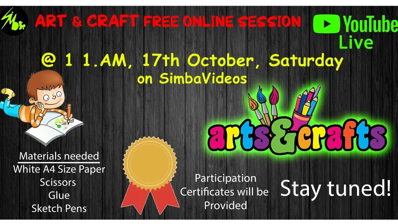 Free Art Craft Online Session Live Youtube