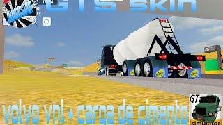 Grand truck simulator skin volvo VNL + carga de cimento