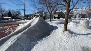 Limestone Luge-Front Yard DYI Luge Run \u0026 Ice Table-Winter In Kingston Ontario