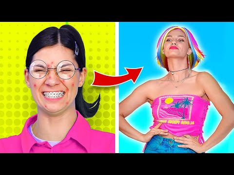 BEST WAYS TO BECOME POPULAR! || Nerd VS Hottie by 123 Go! Genius!