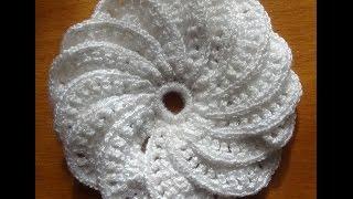Спиральный цветок крючком - к платью ЛИЛИЯ
