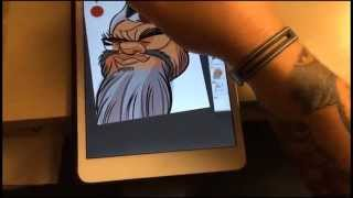 Live-Digital Caricature Tutorial with iPad