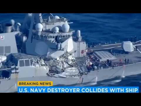 7 Navy Sailors Missing After Naval Ship USS Fitzgerald Collides With Container Ship