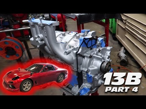 INSTALLING A +1000HP RATED CLUTCH & FLYWHEEL INTO THE13B ROTARY (ENGINE BUILD PART 4)