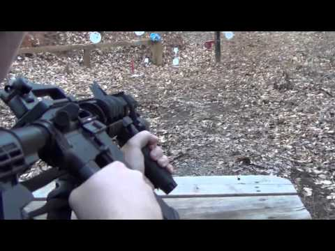 Shooting an AR-15 the DPMS A-15