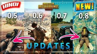 *NEW💥 UPCOMING PUBG MOBILE UPDATES 0.5,0.6,0.7,0.8 DETAILS  & RELEASE DATE IN HINDI | HINDI GAMING