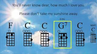 You Are My Sunshine Ukulele Play Along