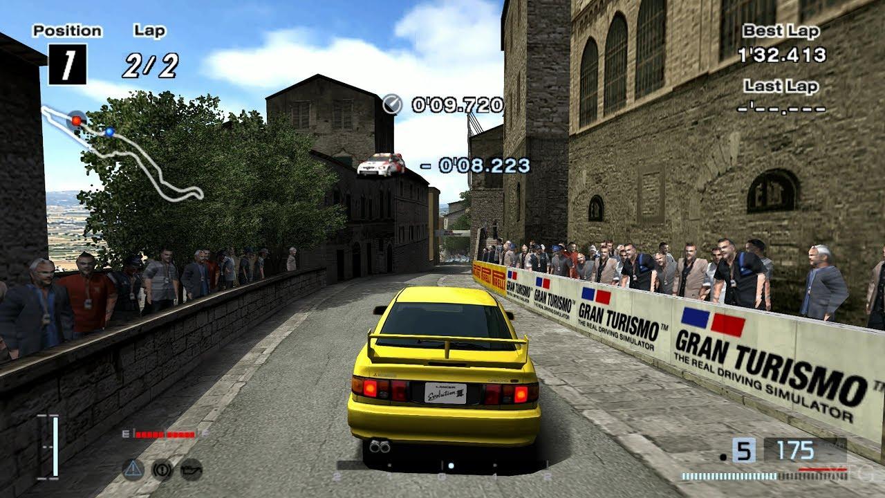 [#1446] Gran Turismo 4 - Mitsubishi Lancer Evolution III GSR '95 (HYBRiD) PS2 Gameplay HD
