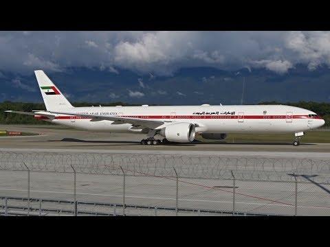 [FullHD] Presidential Flight Boeing 777-300ER takeoff at Geneva/GVA/LSGG