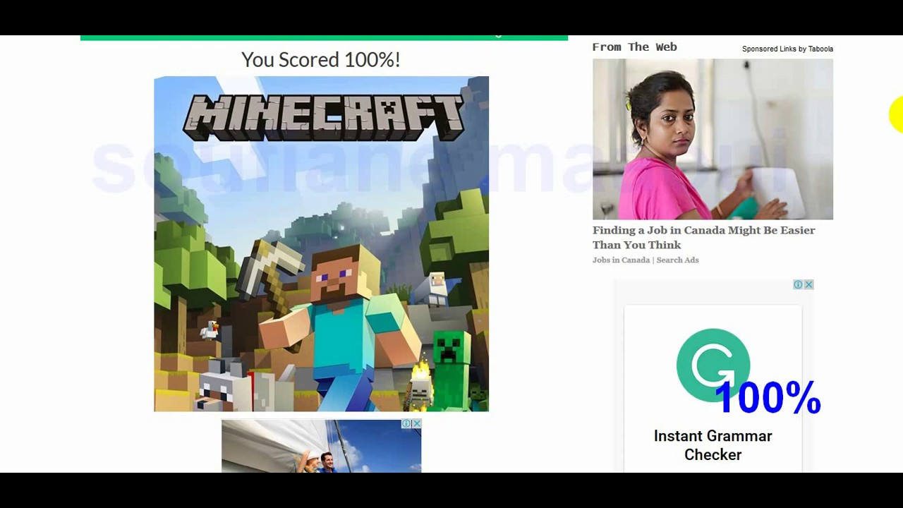 Ultimate Minecraft Quiz 11% - YouTube