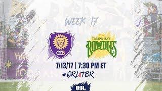 USL LIVE - Orlando City B vs Tampa Bay Rowdies 7/13/17 thumbnail