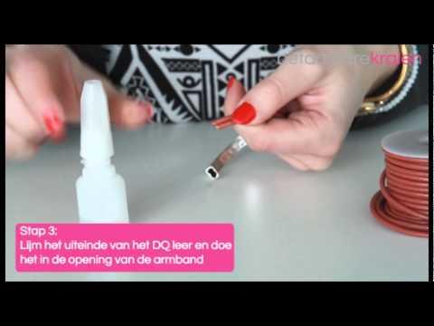 Sieraden maken: Hoe maak je een metalen armband met 3 mm DQ leer? ♡ DIY