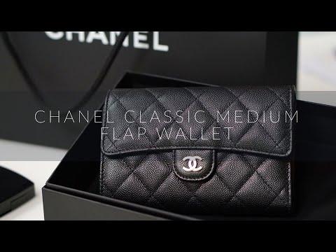 แกะกล่องรีวิวกระเป๋าสตางค์ Chanel Classic Flap Wallet ไซส์ 6