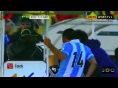 MASCHERANO KICKING THE INJURY CART DRIVER WINDOWS