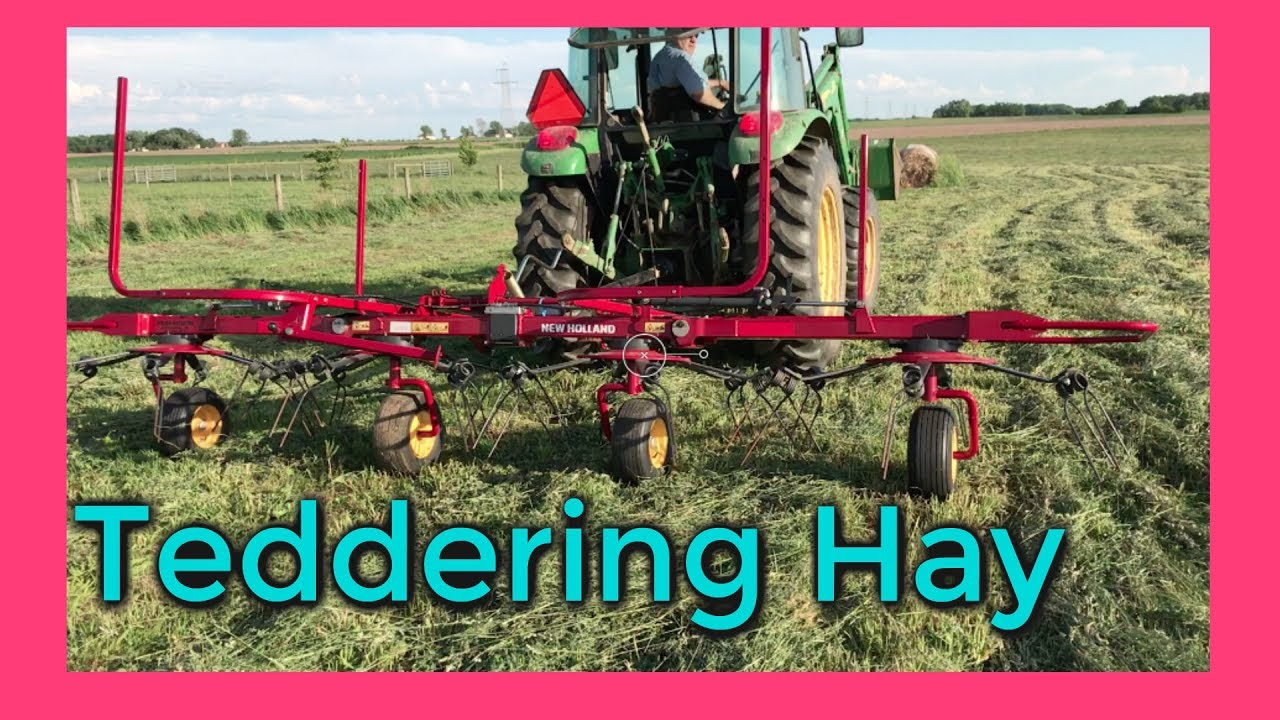 teddering hay : setting the hay tedder