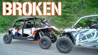 Brand New Polaris RZR SMASHED!!