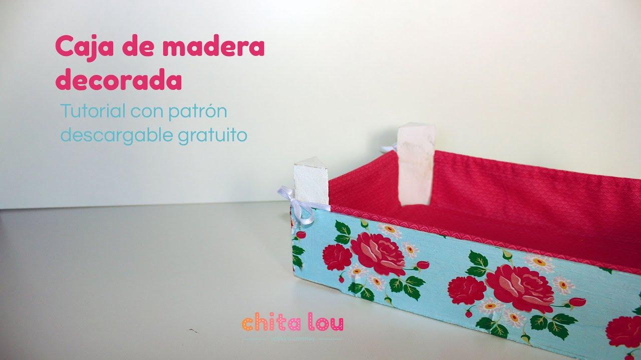 Caja decorada de madera diy con patron gratis descargable - Decorar cajas de madera con papel ...