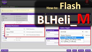 How to Flash BLHeli_M